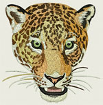 Jaguar - Leopard Portrait - Vodmochka Embroidery Design Picture - Click to Enlarge - Dimensions: (500X506) File Size: 55KB