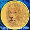 Lion Embroidered Patch for Lion Lovers - Click to Enlarge