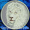 White Lion Portrait #4 Embroidered Patch for Lion Lovers - Click to Enlarge