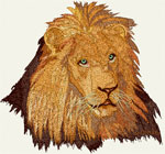 High Definition Lion Portrait HD1 - Vodmochka Embroidery Design Picture - Click to Enlarge - Dimensions (500X465) File Size: 48KB