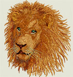 High Definition Lion Portrait HD3 - Vodmochka Embroidery Design Picture - Click to Enlarge - Dimensions (500X530) File Size: 77KB