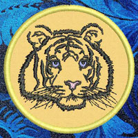 Tiger High Definition Portrait Embroidery Patch - Click for More Information
