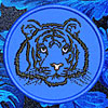 Tiger Portrait #1 Embroidered Patch for  Lovers - Click to Enlarge