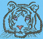 Tiger Portrait #1 - Vodmochka Embroidery Design Picture - Click to Enlarge