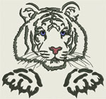 Tiger Portrait #3 - Vodmochka Embroidery Design Picture - Click to Enlarge