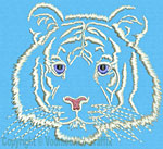White Tiger Portrait #2 - Vodmochka Embroidery Design Picture - Click to Enlarge