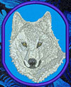 Arctic Wolf High Definition Portrait #3 Embroidered Patch for Wolf Lovers - Click to Enlarge