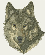 Timber Wolf Portrait - Vodmochka Embroidery Design Picture - Click to Enlarge