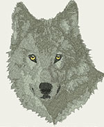 Grey Wolf Portrait - Vodmochka Embroidery Design Picture - Click to Enlarge